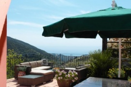 Cosy villa with panoramic seaview in Seborga
